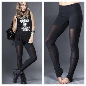 LIKE NEW ALO MESH BLACK GODDESS LEGGINGS